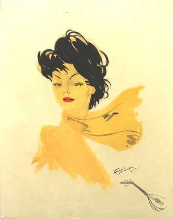 Lithographie Domergue - La Parisienne   GiGi