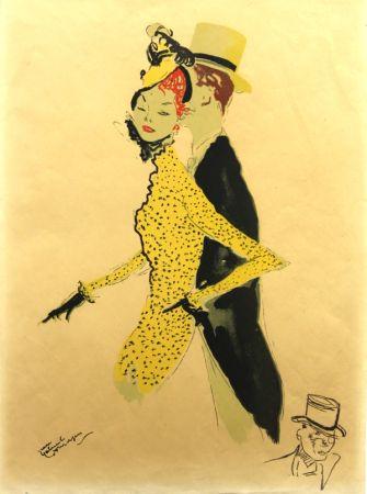 Lithographie Domergue - La  Parisienne  La Belle Helene