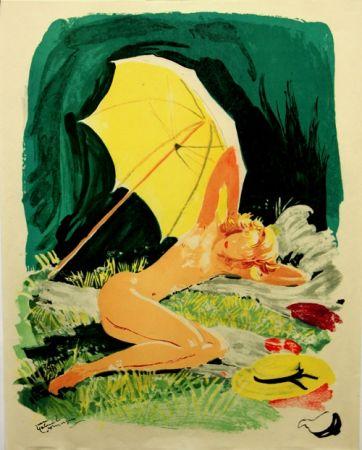 Lithographie Domergue - La Parisienne  Starlette