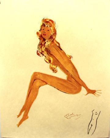 Lithographie Domergue - La parisienne   Sylvie