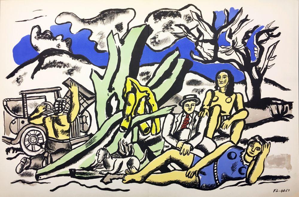 Lithographie Leger - LA PARTIE DE CAMPAGNE (1951-1953)