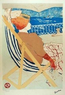 Lithographie Toulouse-Lautrec - La passagère du 54