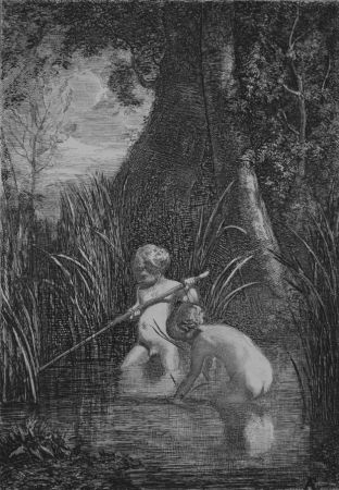 Eau-Forte Fontanesi - La pesca