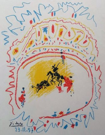 Lithographie Picasso - '' La Petite Corrida ''