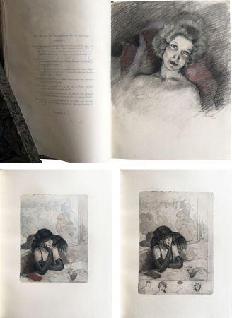 Livre Illustré Chimot - LA PETITE JEANNE PÂLE, suivi de la Petite Sirène du Pont des Arts (1922). 1 des 5 Japon avec dessin original et suites.