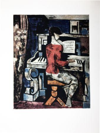 Eau-Forte Et Aquatinte Gromaire - La pianiste