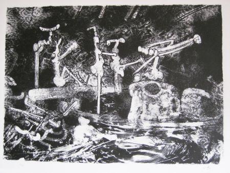 Lithographie Matta - La pioggia cade ed a' fossati venne