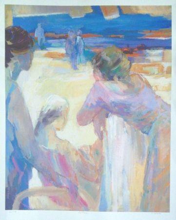 Lithographie Baroni - La plage