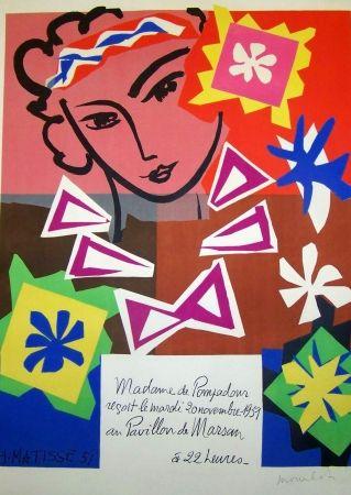 Lithographie Matisse - La pompadour