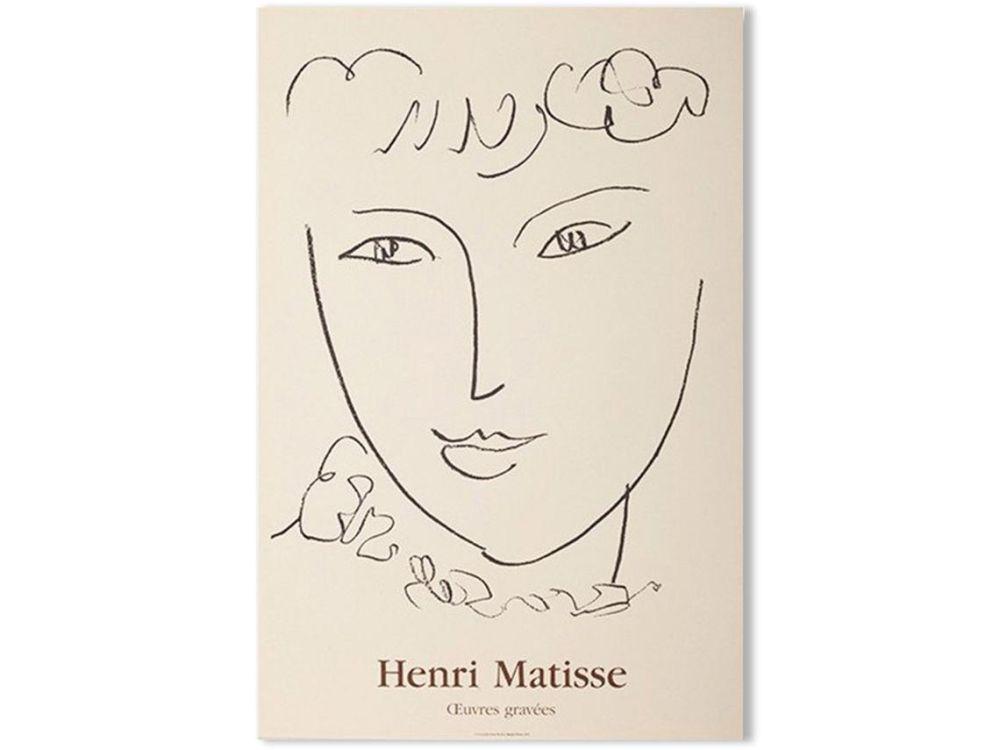 Lithographie Matisse - LA POMPADOUR. Affiche en lithographie pour l'exposition de 1951.