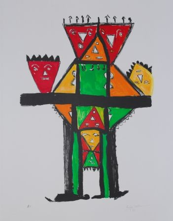 Lithographie Ionesco - La postérité royale
