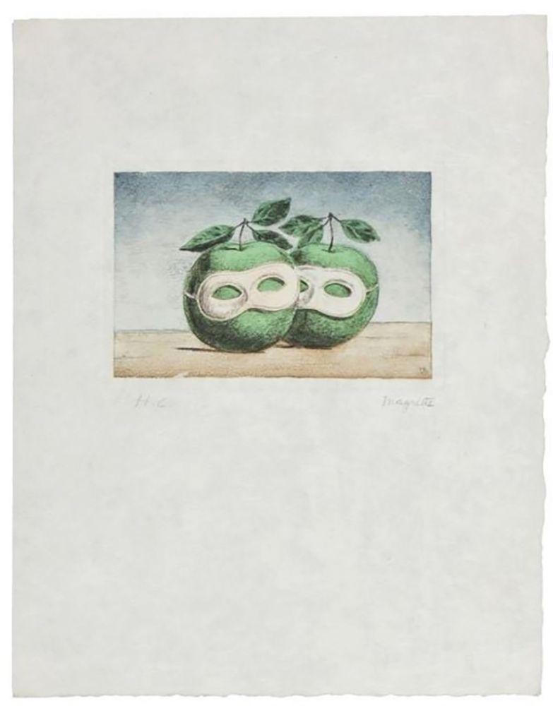 Gravure Magritte - La Prêtre Marie (La Valse Hésitation)