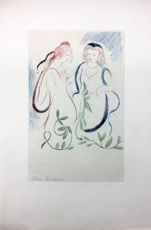 Eau-Forte Laurencin - LA PRINCESSE DE CLÈVES (Pl. VI signée au crayon). 1947