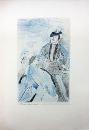 Eau-Forte Laurencin - LA PRINCESSE DE CLÈVES (Pl. VIII signée au crayon). 1947
