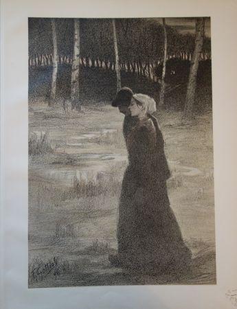 Lithographie Gottlob - La promise