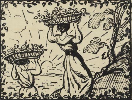 Aucune Technique Espagnat (D') - La récolte des roses circa 1900