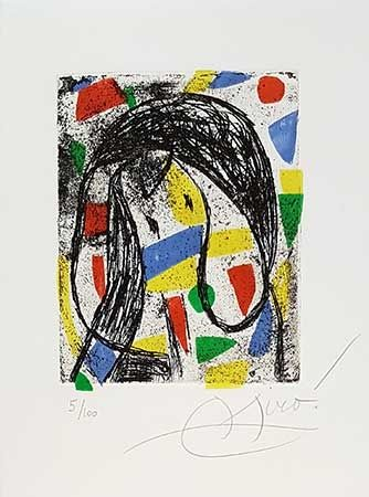 Gravure Miró - La révolte des caractères