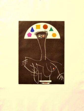 Eau-Forte Valdés - La reina Mariana como pretexto (Matisse)