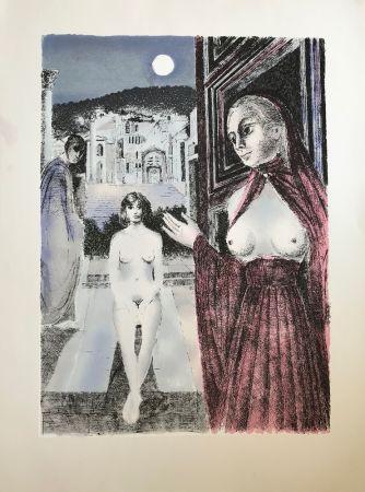 Sérigraphie Delvaux - La Reine de Saba