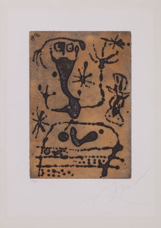 Aquatinte Miró - La Reine Des Ombres