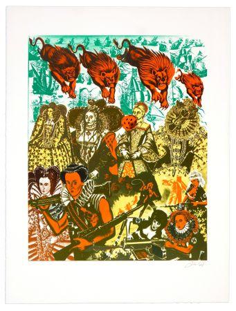 Lithographie Erro - La reine Elizabeth