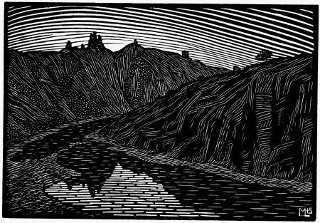 Gravure Sur Bois Moreau - LA RIVIERE (Bretagne) / THE RIVER (Bretagne - France) - Gravure s/bois / Woodcut - 1912