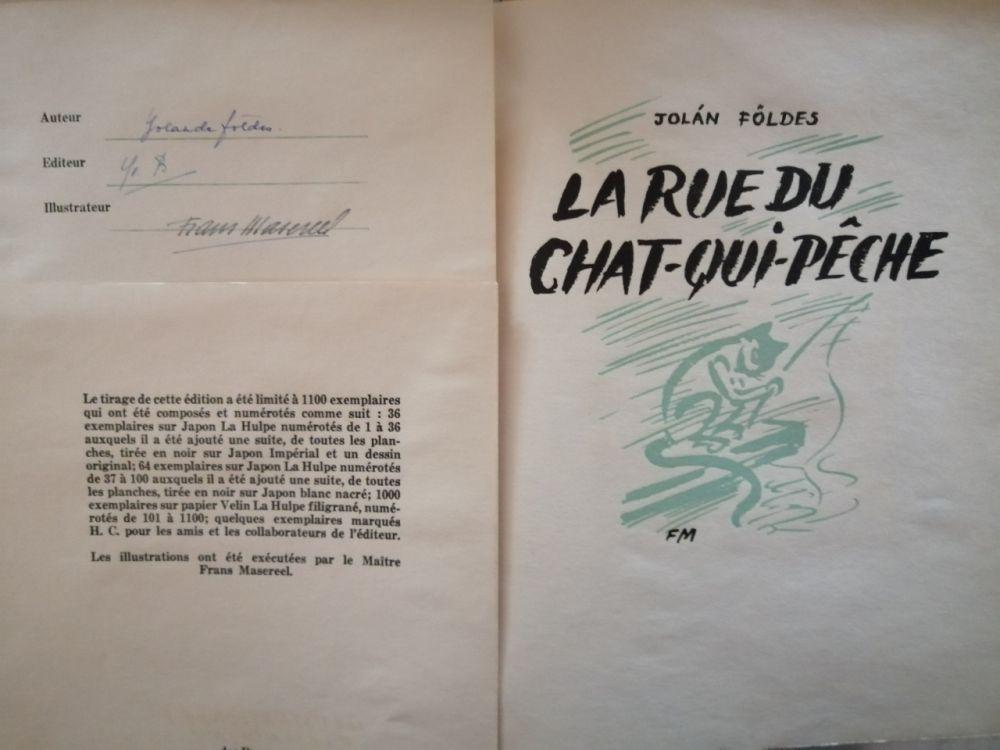 Livre Illustré Masereel - La Rue du Chat-qui-pêche