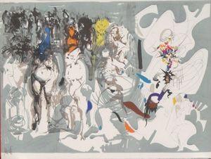 Lithographie Moretti - La rue st denis
