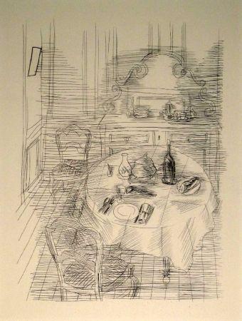 Gravure Dufy - La Salle à manger