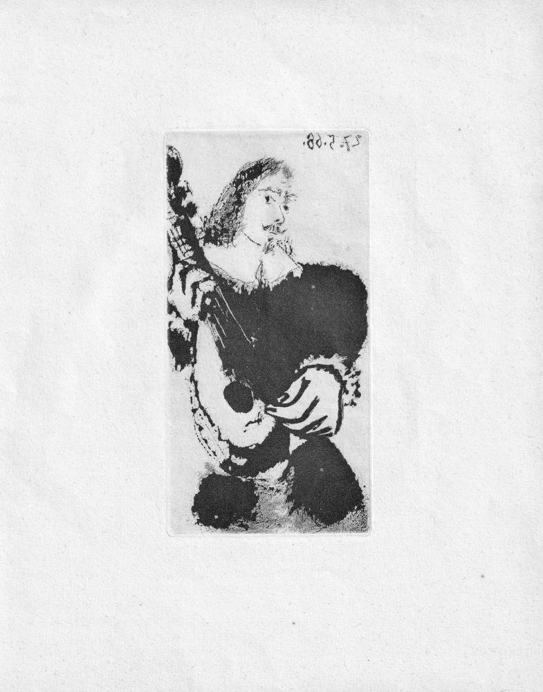 Aquatinte Picasso - La Serenade