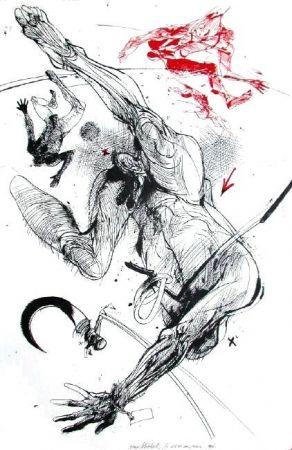 Lithographie Velickovic - La serpe