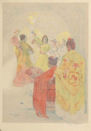 Lithographie Lunois - La sevillana