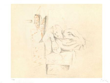 Lithographie Balthus - LA SIESTE