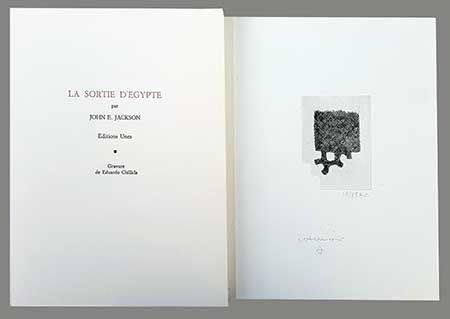 Livre Illustré Chillida - La Sortie D'egypte
