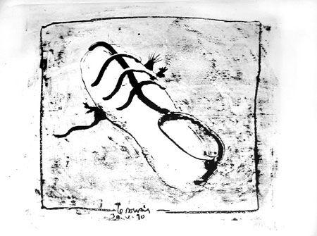 Lithographie Barcelo - La souris
