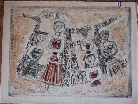 Lithographie Campigli - La strada