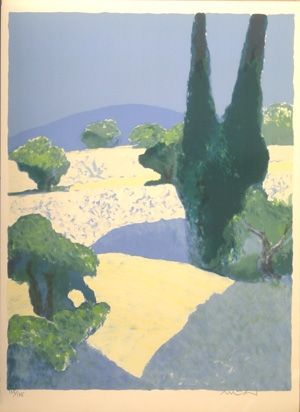 Lithographie Muhl - La suite provencale