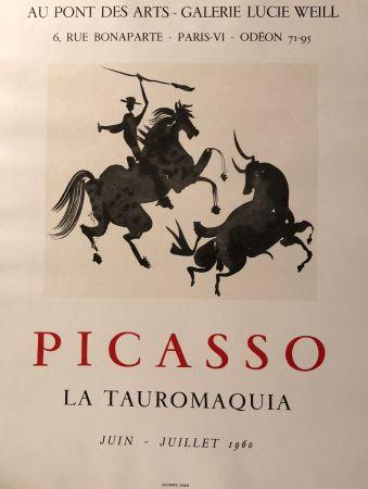 Affiche Picasso - La Tauromaquia - Au Pont Des Arts - Galerie Lucie Weil, Paris Juin - Juillet 1960