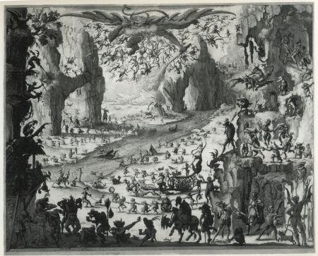 Eau-Forte Et Aquatinte Desmazières - La Tentation de Saint-Antoine