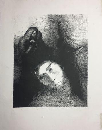 Lithographie Redon - LA TENTATION DE SAINT-ANTOINE (Planche XVIII, 3ème série) 1896
