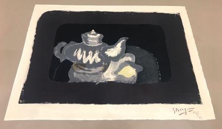 Lithographie Braque - La Théière Grise
