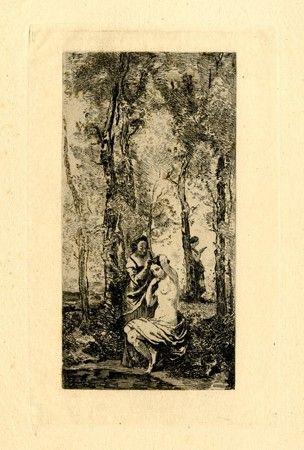 Gravure Corot - La toilette