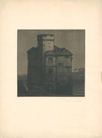 Eau-Forte Et Aquatinte Gattiker - La Torre di Rapallo (Torre Pagana)