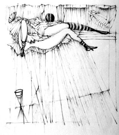 Eau-Forte Bellmer - La toupies