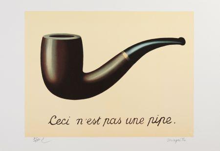 Lithographie Magritte - La Trahison des Images
