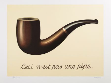 Lithographie Magritte - La Trahison des Images (The Treachery of Images)