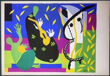 Lithographie Matisse - La Tristesse Du Roi. Lithographie Sur Arches 1952 (Tirage Original)