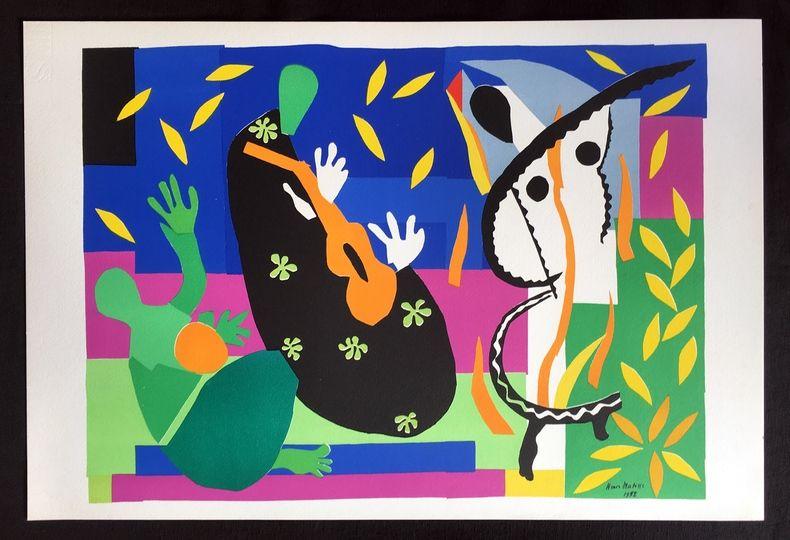 Lithographie Matisse - LA TRISTESSE DU ROI. Lithographie sur Arches 1958 (tirage original)