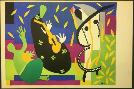 Lithographie Matisse - LA TRISTESSE DU ROI. Lithographie sur vélin 1952 (tirage original)