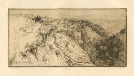 Gravure Chahine - La vallée fertile, près Monte Oliveto Maggiore